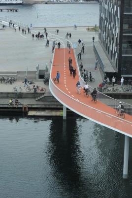 Copenhague ponte de interligação de ciclovia