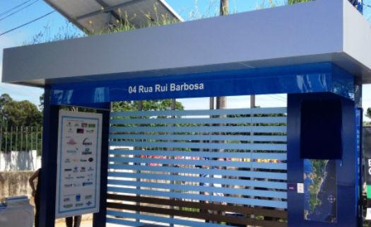 ponto ônibus sustentável