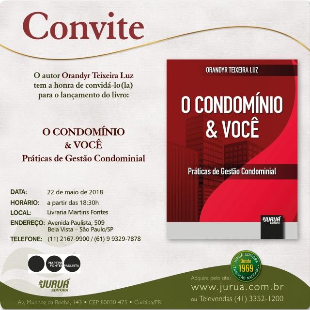 CONVITE - O CONDOMINIO E VOCE - 22.05